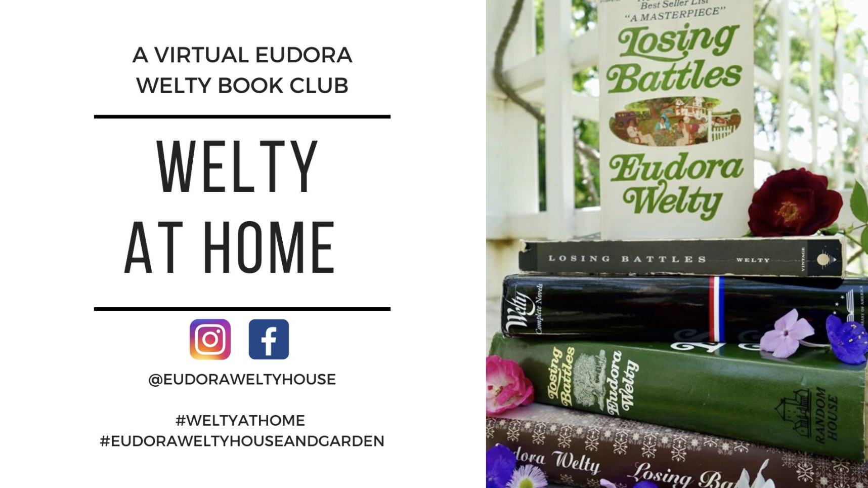 WELTY AT HOME | VIRTUAL BOOK CLUB