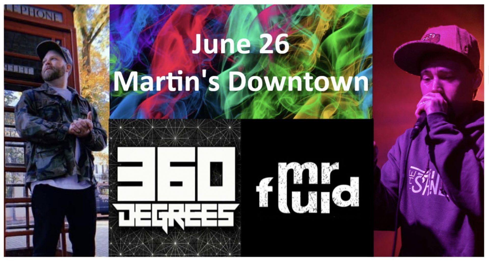 LIVE MUSIC: 360 Degrees w/ Mr. Fluid