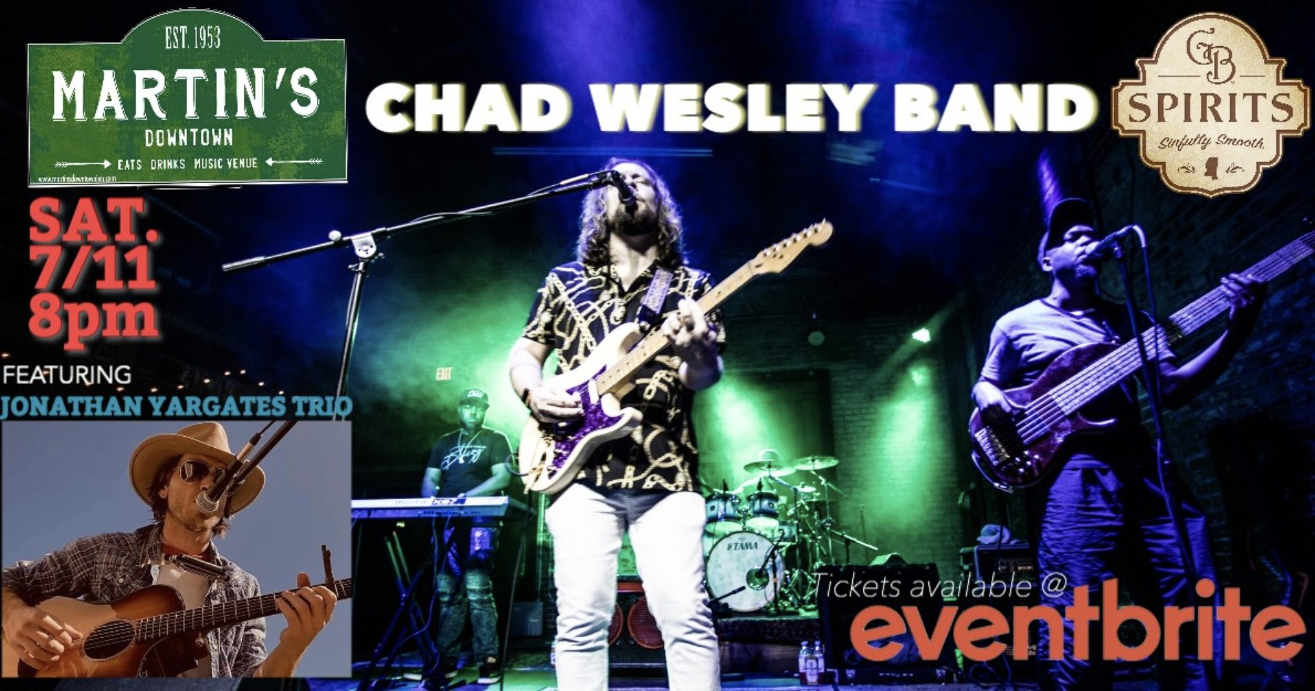 LIVE MUSIC: Chad Wesley Band w/ Jonathan Yargates Trio