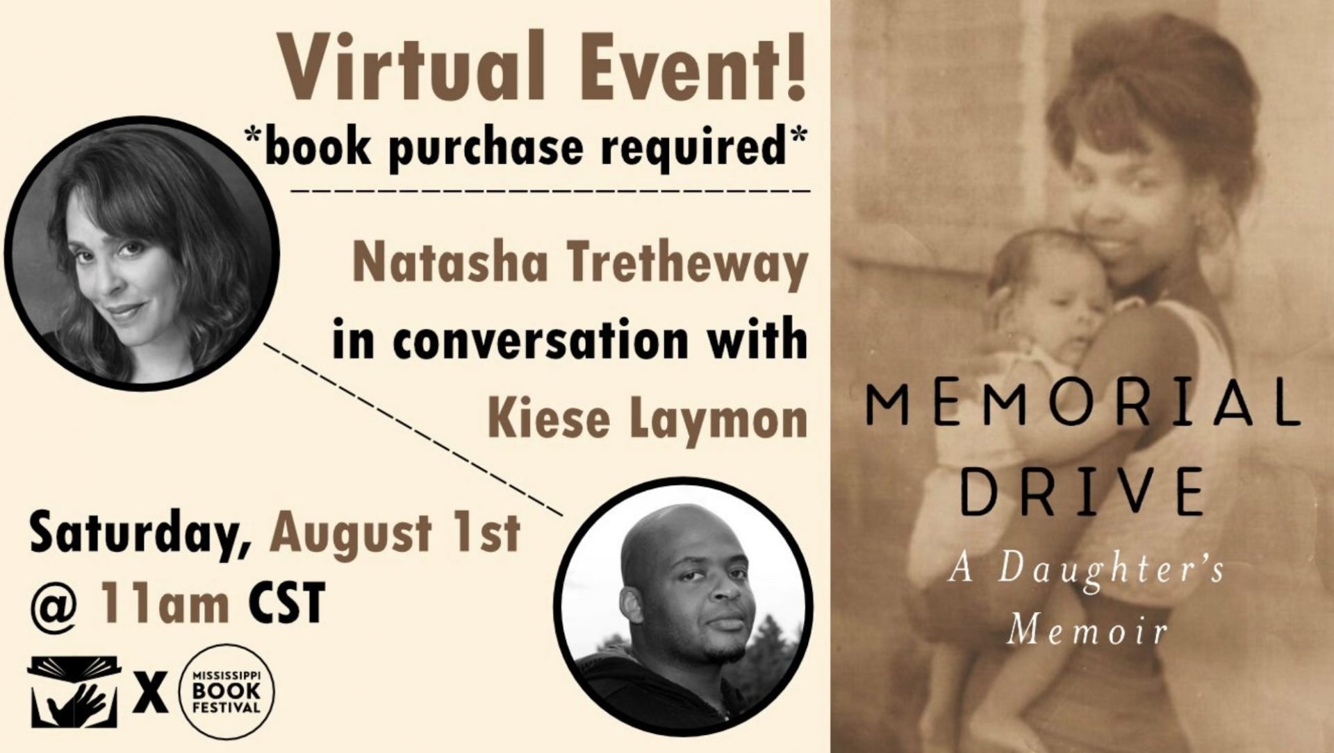 Natasha Trethewey + Kiese Laymon | Virtual Book Event