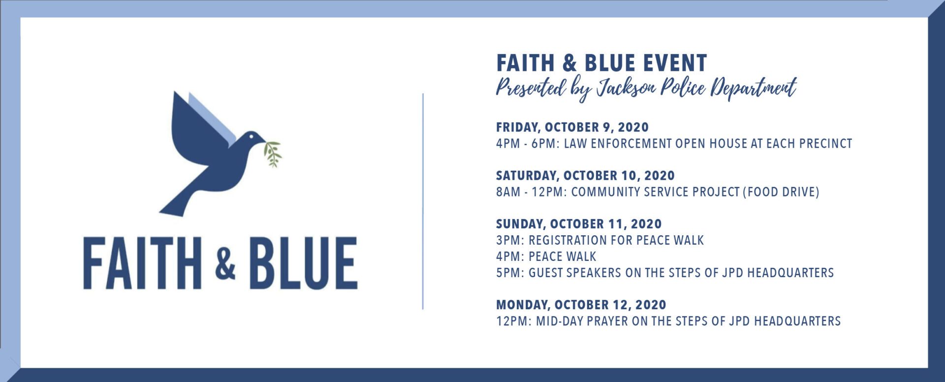 National Faith & Blue Weekend