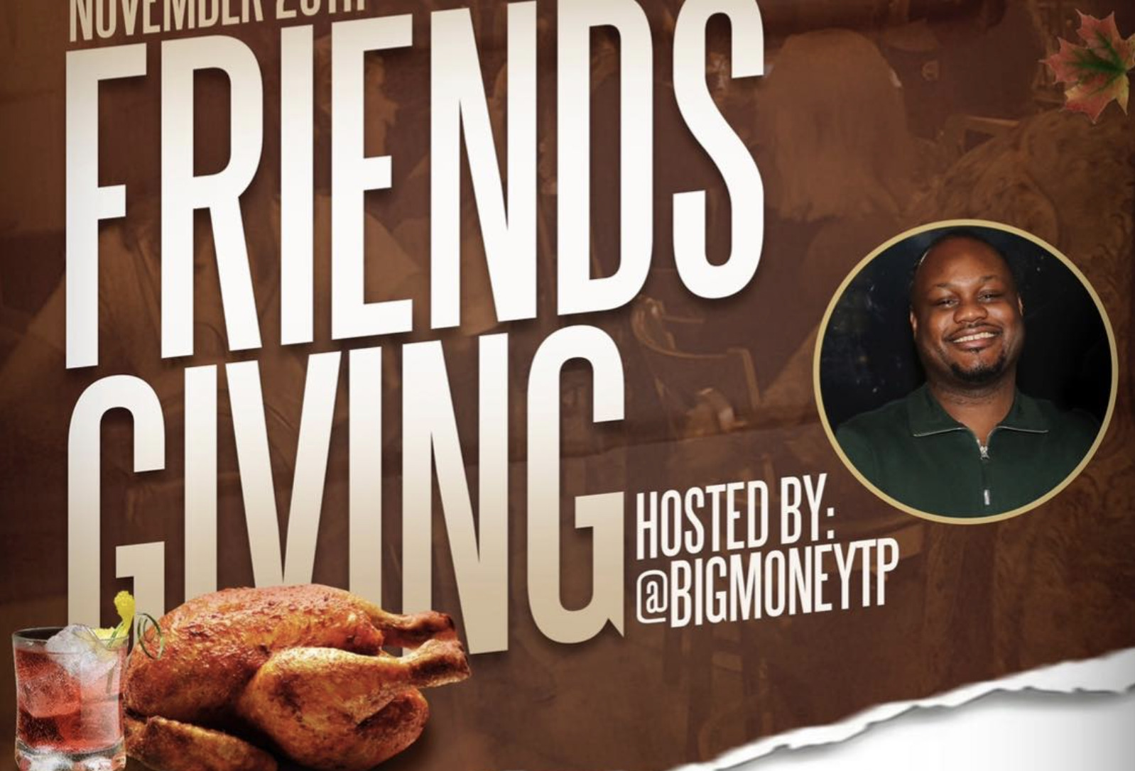 Friendsgiving at Names & Faces Lounge