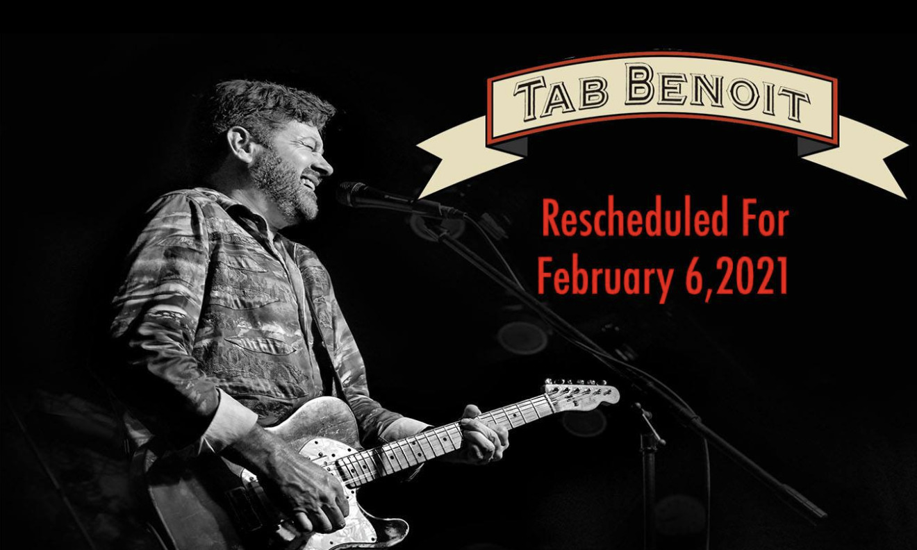 Tab Benoit at Martin's Downtown Rescheduled for 2/6