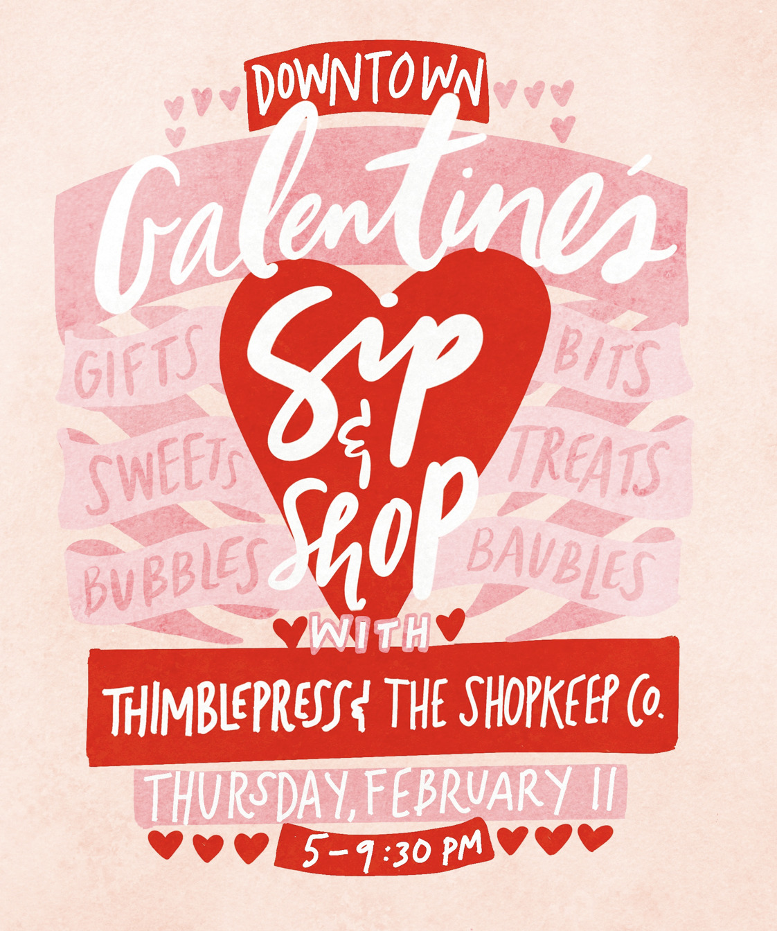 Galentine's Sip & Shop with Thimblepress & The Shopkeep Co.!