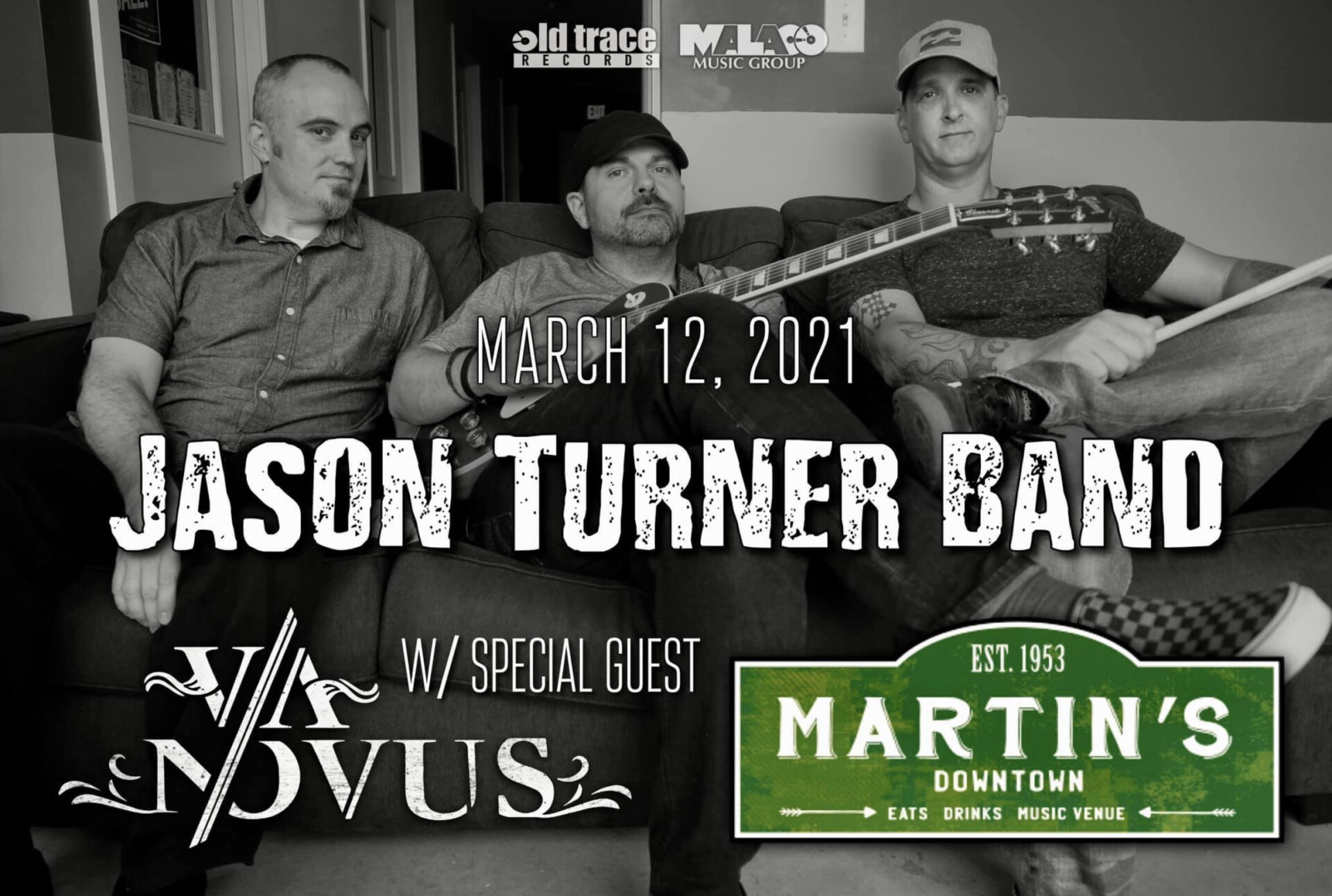Jason Turner Band at Martin's Downtown w/ Via Novus