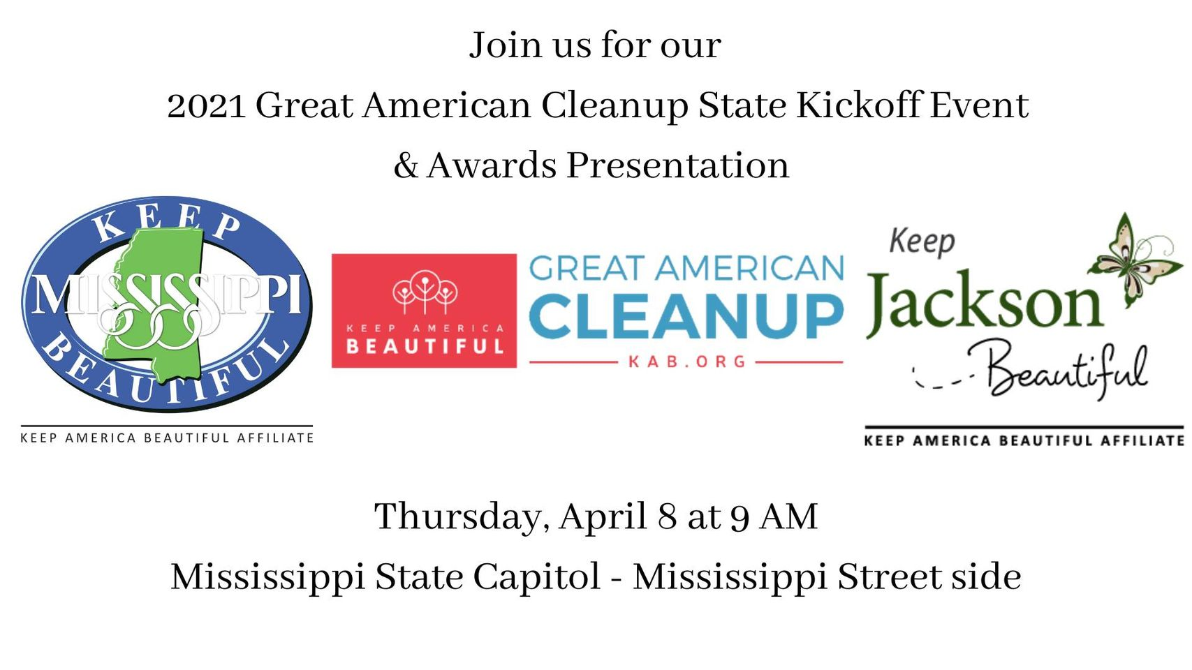 2021 Great American Cleanup State Kickoff & Awards Presentation