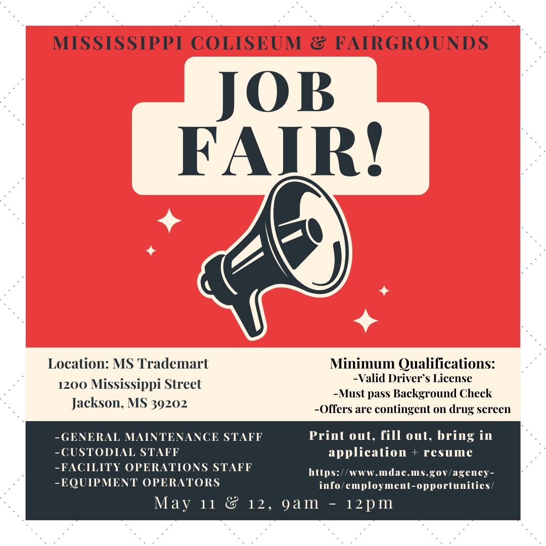 Mississippi Coliseum & Fairgrounds Job Fair