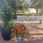 DOWNTOWN PLANTERS REPLACED BY SELF-WATERING CONTAINER SYSTEM
