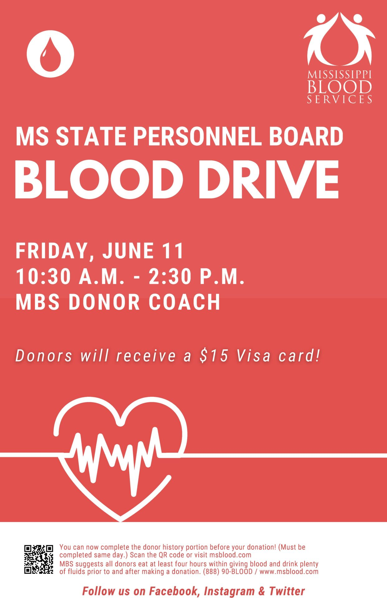 MS State Personnel Board Blood Drive