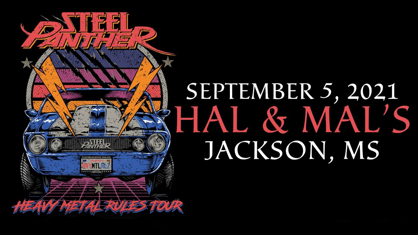 Steel Panther: Heavy Metal Rules Tour at Hal & Mal's