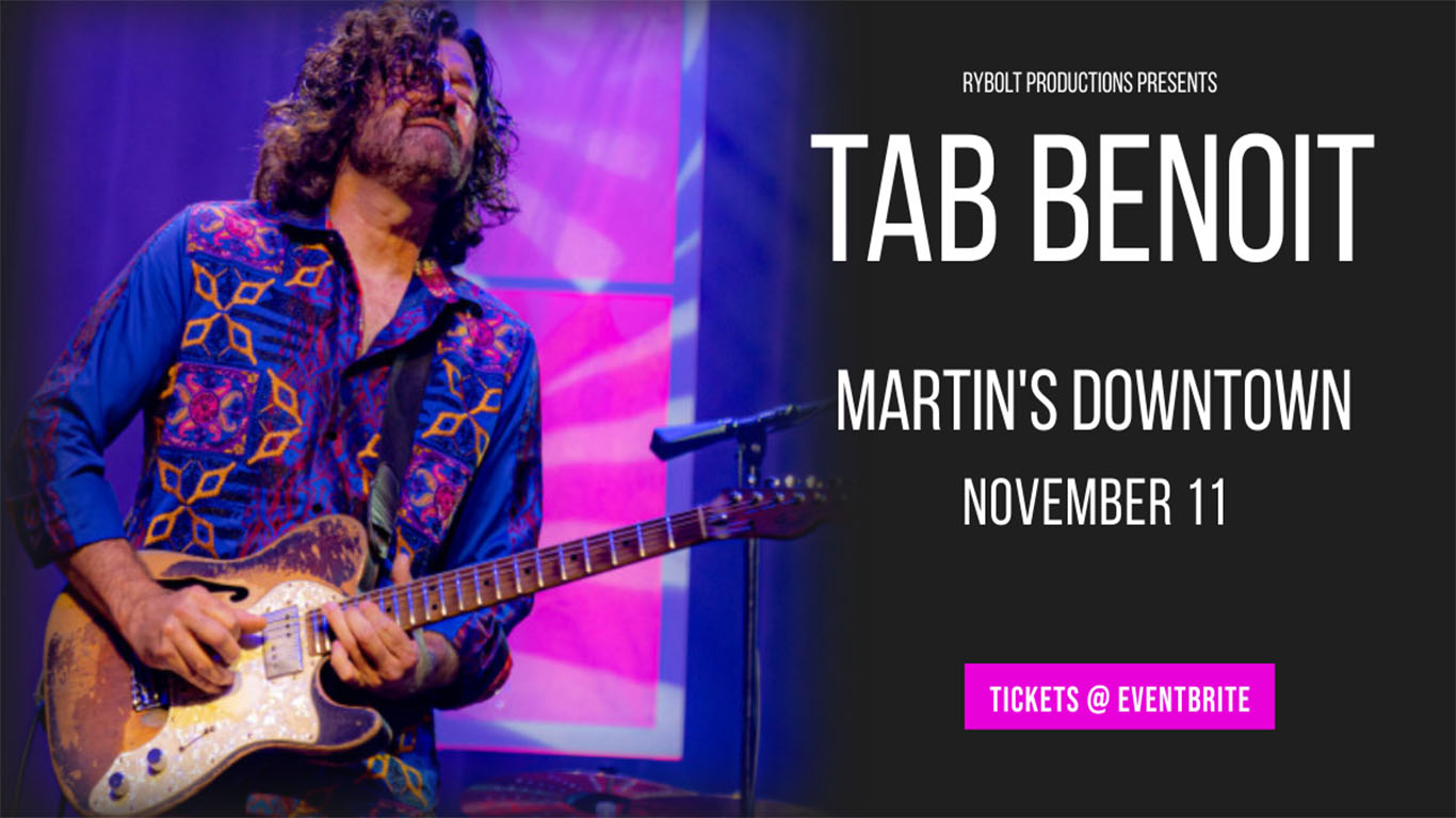 Tab Benoit Live at Martin's Downtown