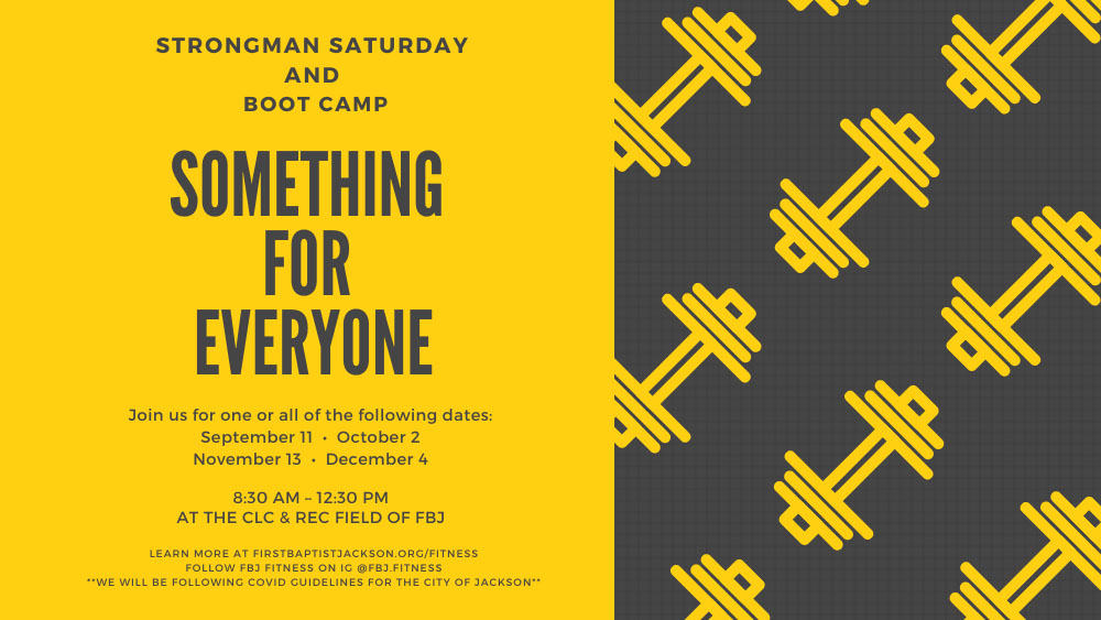 Strongman Saturday & Boot Camp for All