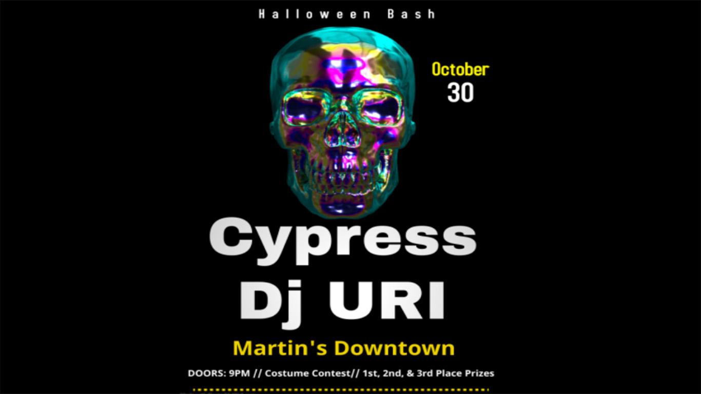 Halloween Bash with Cypress & DJ URI at Martin's Downtown